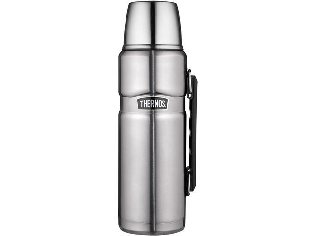 Thermos King Vacuum Flask Enamel 1000ml, zilver